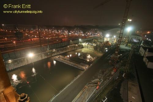 Baudock II - Blick vom Kran 6 nach S�den