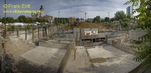 Baugrube S�d - Blickrichtung Nord