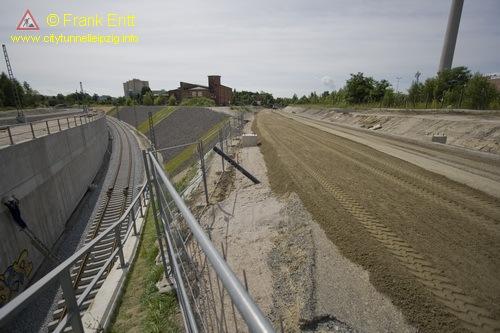 Überwerfungsbauwerk Süd - Portal Süd - Blickrichtung Süd