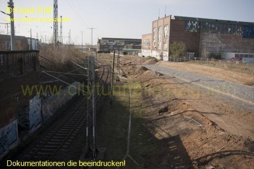 �berwerfungsbauwerk Dortmunder Stra�e - Blickrichtung S�den