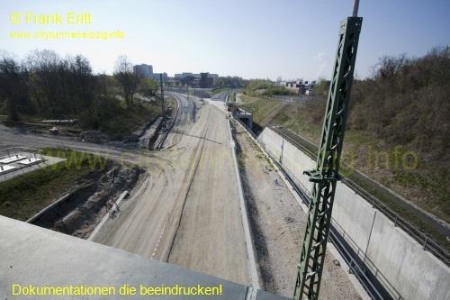 Blick von der Br�cke Richardt-Lehmann-Stra�e nach S�den
