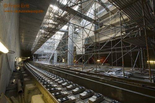 Blick aus der Nordostecke der Station (Bahnsteig)