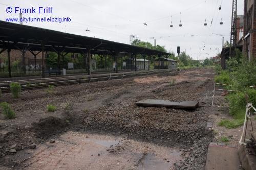 alter Bahnsteig - Blickrichtung Norden