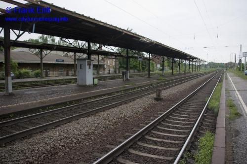 alter Bahnhof Leutzsch - Blickrichtung Westen