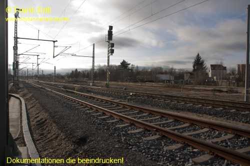 alter Bahnsteig - Blickrichtung Süden