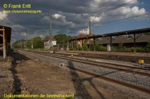 alter Bahnhof Leutzsch - Blickrichtung Osten