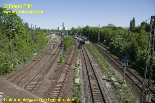 Br�cke Bornaische Stra�e - Blickrichtung Nordwest