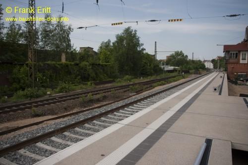 Bahnsteig Ost - Blickrichtung Norden