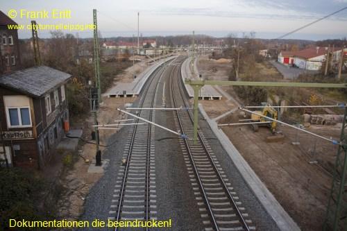 Strecke Plagwitz-Leutzsch - Blick von der Georg-Schwarz-Br�cke nach Norden