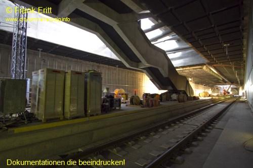 Blick aus der S�dostecke der Station