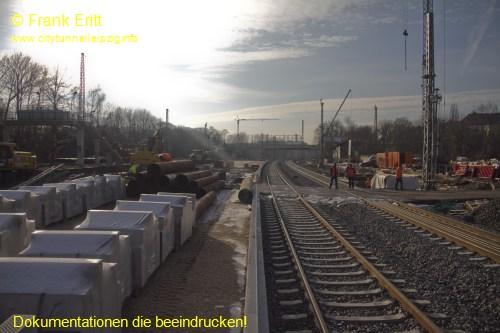 Neuer Bahnsteig Blickrichtung S�d