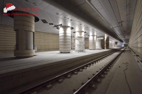 Bahnhofsgeb�ude - Blickrichtung Nord