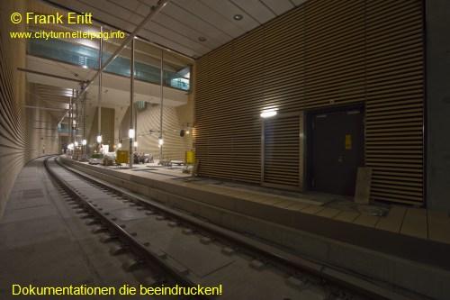Blick aus der Südwestecke der Station