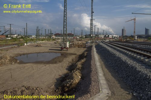 Gleisanlagen an Berliner Br�cke - Blickrichtung S�d