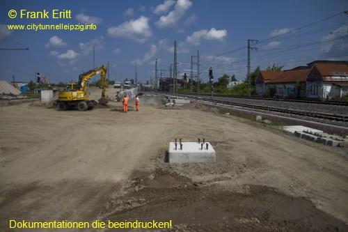 Gleisanlagen an Berliner Br�cke - Blickrichtung West