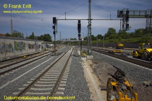 Neuer Bahnsteig Blickrichtung Nord