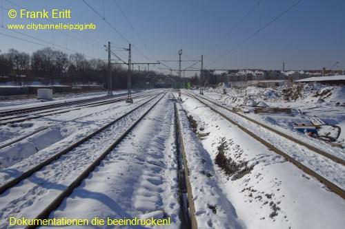 neuer Bahnsteig - Blickrichtung S�den