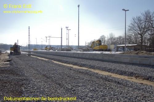alter Bahnsteig - Blickrichtung S�den