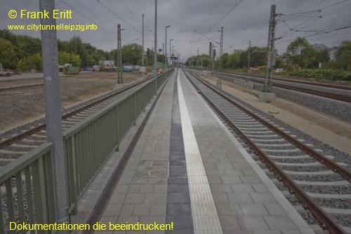 neuer Bahnsteig - Blickrichtung Norden